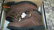 Men's Wolverine Wexford Brown Leather Work Boots W08583 NIB!!