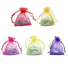 "50PCS Sheer Organza Wedding Jewelry Xmas Favors Gift Candy Pouch Bags 3X4"" HJ356"
