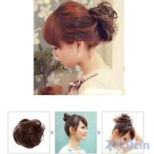 Fashion Extension Bride Bun Hairpiece Scrunchie Wavy Hair Pony Tail Fake Hair