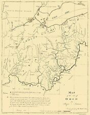 Old State Maps- STATE OF OHIO (OH) BY RUFUS PUTNAM MAP 1804