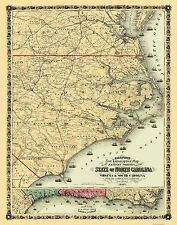 State Maps - NORTH CAROLINA (EASTERN PORTION/NC) STATE MAP BY COLTON 1861