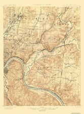 Topographical Map - Cincinnati, East Ohio, Kentucky Quad - USGS 1900 - 17 x 23