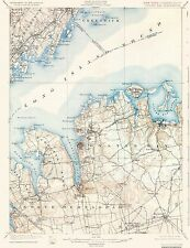 Topographical Map - Oyster Bay New York, Conneticut Quad - USGS 1900 - 17 x 22