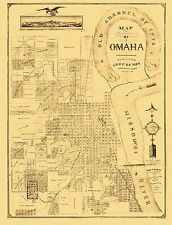 Historic City Maps - OMAHA NEBRASKA (NE) CITY MAP BY GEO. P. BEMIS 1876
