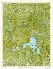 Old State Map - Yellowstone Park - Burlington Route 1898 - 23 x 29