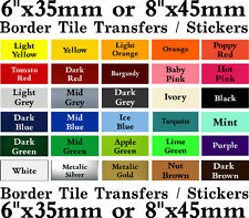 """Border Tile transfers Borders, 6"""" or 8"""" Stickers packs of 10, 20, 30, 40"""