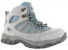 LADIES HI-TEC WALKING BOOTS (GREY/DK GREY/POWDER) 50 PEAKS