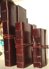 LEATHER BOUND NOTEBOOK/JOURNAL/DIARY 100% RECYCLED HANDMADE PAPER FAIRLY TRADED