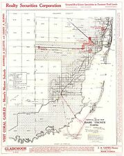DADE (MIAMI DADE) COUNTY FLORIDA (FL) ROAD MAP BY RICHESON LOVE 1921