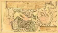 Old City Map - Jacksonville, St Johns River Florida 1791 - 23 x 40.65