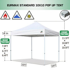 New 10x10 Ez Pop Up Canopy Tent Gazebo Party Wedding Tent + roller bag + awning