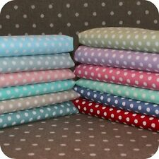 Polka Dot Fabric HALF METRE - 4mm Spots 100% Cotton Spotty Shabby Chic Quilting.