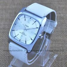 NEW Dress Classic Square Dial Leather Band Fashion Mens Women Quartz Wrist Watch