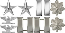 Silver Polished Military Ranking Insignia Sets Pin On