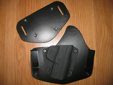 IWB / OWB Kydex/Leather Hybrid Holster combo with adjustable retention