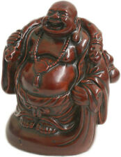 Small Standing Red Resin Laughing Lucky Buddha Ornament ~ 2 Designs ~ BNIB