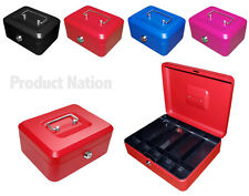 New Steel Petty Cash Boxes - Cash Tray - Money Holder Security Safe