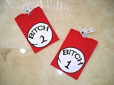 DR. SEUSS THING BITCH 1 One 2 Two Three T SHIRT ADULT SALE FUNNY ITEM Free Ship