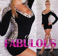New Sexy Size 8-10-12 Women's Sweater Dresses Top Hot Clothes Fashion Leopard