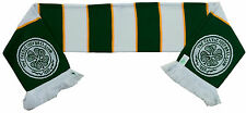 Celtic FC Green & White Jacquard Bar Scarf BNIP Football Club