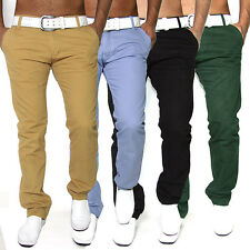 NEU SEXY SLIM FIT HERREN CHINOHOSE DENIM TROUSERS JEANS 7 FARBENW 29 - W36 J19