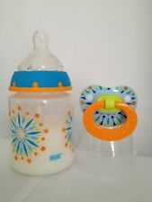 Reborn Baby Doll Bottle Set 5oz Faux Milk +1 NUK Magnetic Pacifier BLOR TIE DIE
