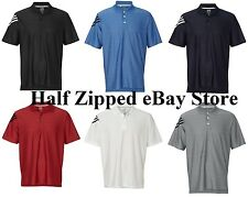 Adidas Mens Golf ClimaCool Mesh Textured Front Polo Sport Shirt A133 S-3XL SALE