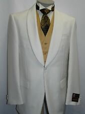 Men's Ivory Dinner Jacket Shawl Collar Formal Wear Single Breasted One Button