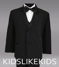 Boys Tuxedo in black for kids of all ages Size 2T 3T 4T 5 6 7 8 10 12 14 16 18