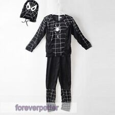 Unisex Kids Black Spider Man VENOM Cos outfit 3-7Y/O  Dress Up Costume With Mask