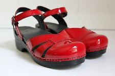 DANSKO Maeve Mary Jane Sandals -- Sizes 38 and 40 -- Cherry Red Patent