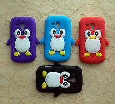 4Colors 3D penguin Soft Back Cover Case For Samsung Galaxy Ace 2 2X II X S7560M