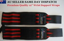 WRIST WRAPS POWERLIFTING/BODYBUILDING GYM SUPPORT STRAPS FOREARM
