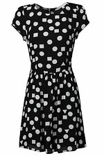 WOMENS GLAMOROUS BLACK AND WHITE DOT DRESS - MOST SIZES - RRP£50 - NEW