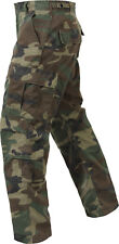 Woodland Camouflage Vintage Paratrooper Pants Tactical Military BDU Fatigues