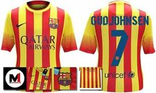 *13 / 14 - NIKE ; BARCELONA AWAY SHIRT SS / GUDJOHNSEN 7 = KIDS & JUNIOR SIZE*