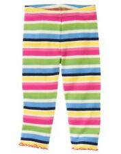 GYMBOREE SHOWERS OF FLOWERS COLOR STRIPED LEGGINGS 3 6 12 18 24 2T 3T 4 5 NWT