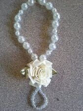 Pearl and Rose or Flower Baby Infant Barefoot Sandals