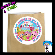 Lalaloopsy Birthday Party Favor Goody Bag STICKERS - Personalized Loot Bag Label