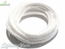 3mm High Quality Ekowool Silica Wick Braided Hollow 3±0,3 Temp Res   1000°C