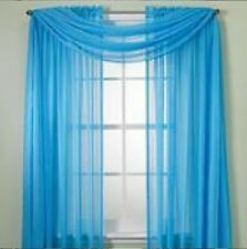 "SHEER / SCARF Window Treatments Curtains Drape Valances 63"" 84"" 95"" TURQUOISE"