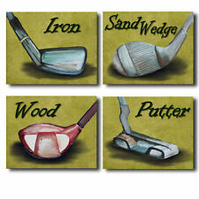 Golf Star clubs nursery bedding artwork prints for baby boy room in 4 colors