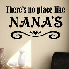 Vinyl Wall Lettering Quotes No Place Like Nana Grandma Decal choice size color