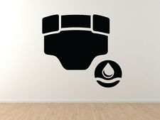 Baby Care - Wet Diaper Changing Area Nursery Room Decor - Vinyl Wall Decal