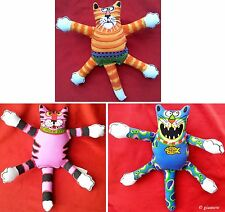Fat Cat Terrible Nasty Scaries Dog Toy Floppy Stuffed Kitty Free Ship (G)