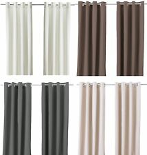 Ikea MERETE Pair of Curtains 2 panels Brown Purple Beige White Bleached New NIP