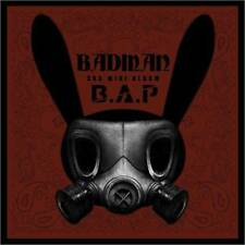 B.A.P - BADMAN (3rd Mini Album) CD + Photocard + Stencil + Poster + Gift