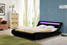 Amazing Designer Bed With Multi Colour LED Headboard -5 Colours - Mattress Offer