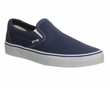 Vans Classic Slip On Navy Canvas Trainers Shoes vh9