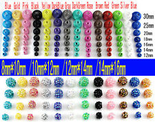 14pcs Mix 7 Sizes Craft Basketball Wives Earrings Hoop Spacer Mesh Beads oa1038